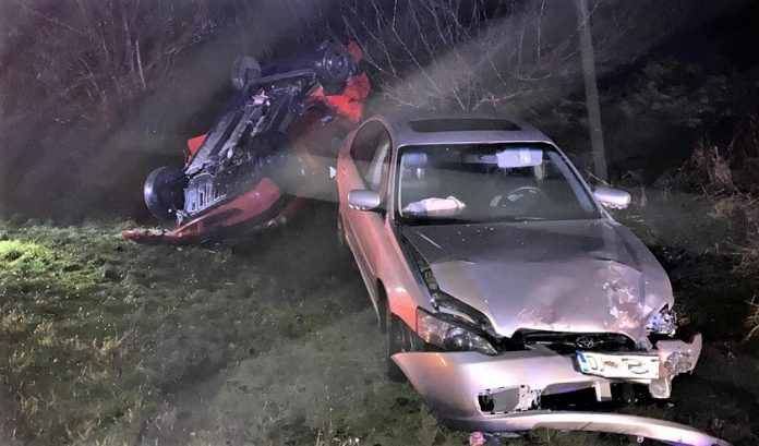 Accident rutier la Isalnita produs pe fondul neacordarii de prioritate