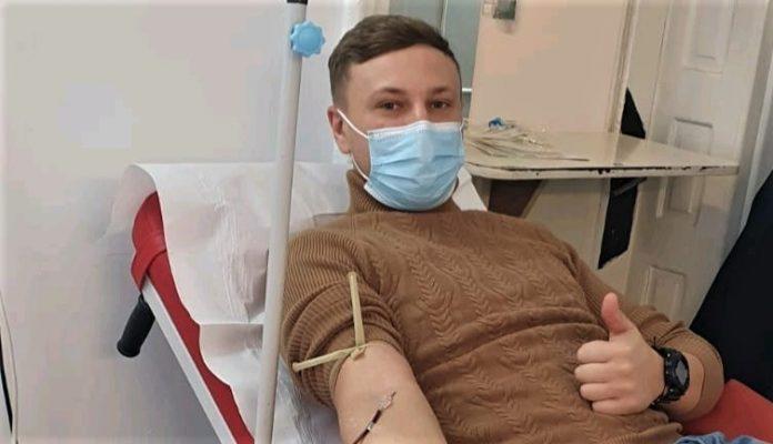 Un jandarm vâlcean confirmat pozitiv cu COVID 19, a donat plasmă după ce s-a vindecat
