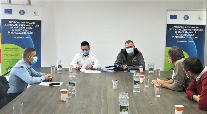 Apă Oltenia a semnat primul contract de achiziție echipamente din fonduri europene
