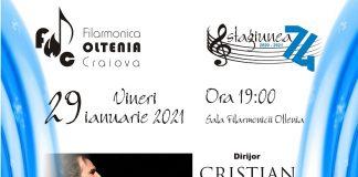 Concert Schumann la Filarmonica OLTENIA Craiova sub bagheta dirijorului Cristian Sandu, în interpretarea solistică a pianistei Anca Săftulescu