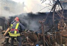 Craiova Incendiu pe strada Bega