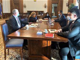 Horatiu Buzatu vicepresedinte UNPR Oltenia face to face cu presedintele Senatului Romaniei Anca Dragu