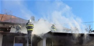 Incendiu la un magazin de articole funerare din Slatina pe strada Strehareti