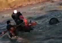 Mehedinti Barbat salvat din raul Topolnita