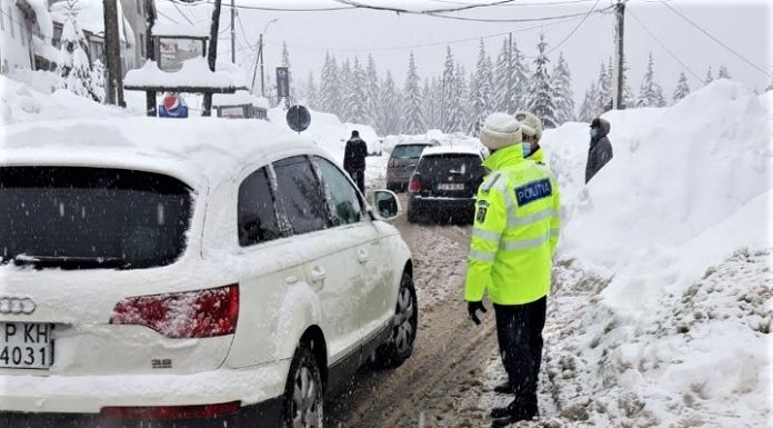 Recomandările IPJ Gorj pentru circulație în siguranță, în condiții de iarnă