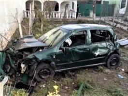 Accident rutier grav în Balș - tânăr salvat de un paramedic SMURD aflat în timpul liber - VIDEO