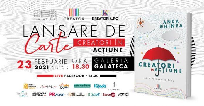 Anca Ghinea, jurnalist și fondatoarea Kreatoria.ro, trainer, în cartea Creatori în acțiune