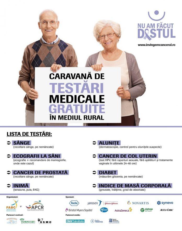 Testări medicale gratuite în județul Olt