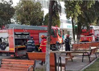 ISU Olt a desfasurat un exercitiu la Spitalul Judetean de Urgenta Slatina