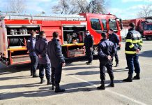 Sapte studenti pompieri in practica la ISU Mehedinti