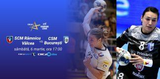EHF Champions League Meciul tur dintre SCM Ramnicu Valcea si CSM Bucuresti in direct la Digi Sport