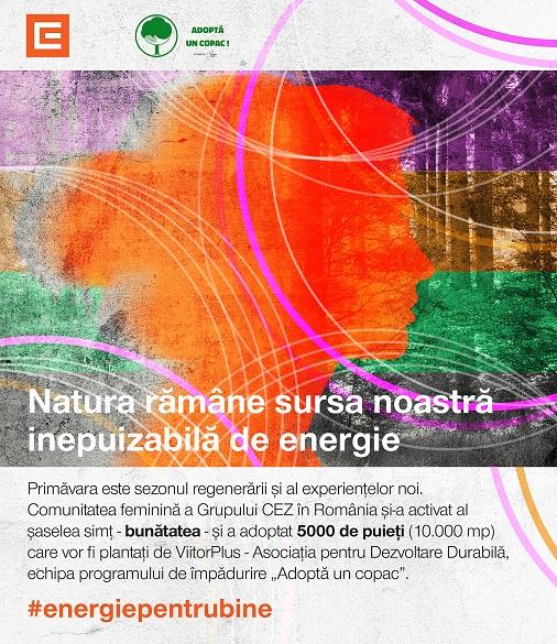 Faptele bune prind rădăcini CEZ plantează 10 000 mp de pădure în comunitatea sa