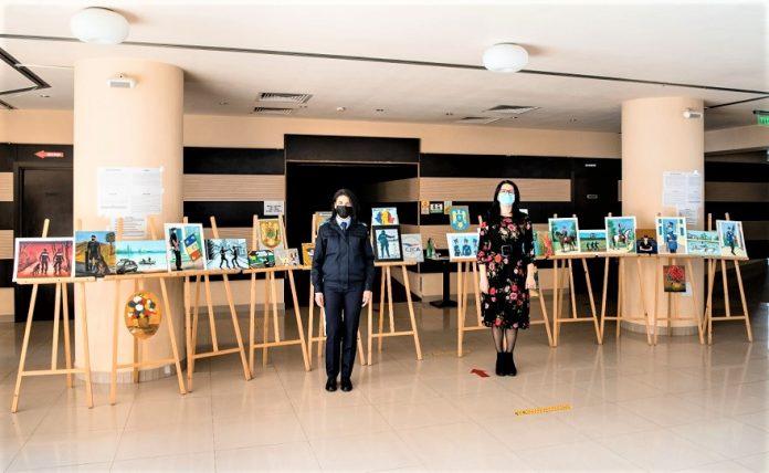 Jandarmeria în culori expozitie de pictura la Centrul Cultural Eugen Ionescu din municipiul Slatina