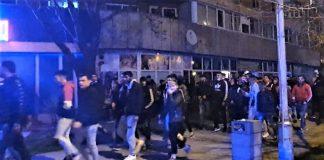 Jandarmii olteni au fost prezenti in Slatina la un protest nedeclarat