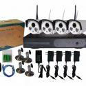 Kit Sistem Video Supraveghere Wireless 4 camere HD iluminare IR 30m