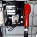Pompa motorina cu Bazin  600 1000 litri cu filtru captator apa cu transport