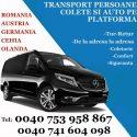 Transport persoane, colete si auto pe platforma